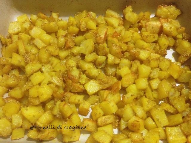 patate al forno con sesamo e curcuma